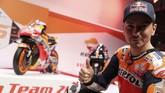 Jorge Lorenzo menyebut duetnya dengan Marc Marquez di Repsol Honda sebagai Dream Team karena keduanya pebalap terbaik yang dimiliki Spanyol saat ini. (REUTERS/Susana Vera)