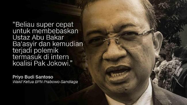 Priyo Budi Santoso, Wakil Ketua BPN Prabowo-Sandiaga.