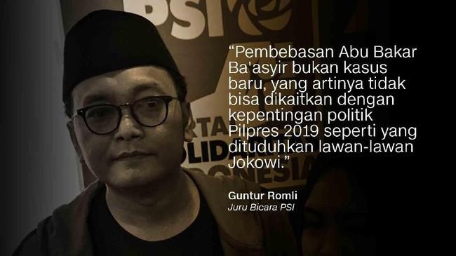 Guntur Romli, Juru Bicara PSI.