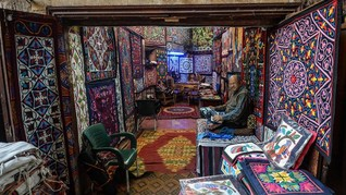 FOTO: Asa Perajin Khayamiya di Mesir