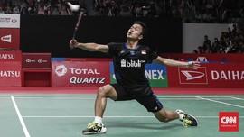 Hasil Fuzhou China Open 2019: Anthony Ginting Langsung Kalah