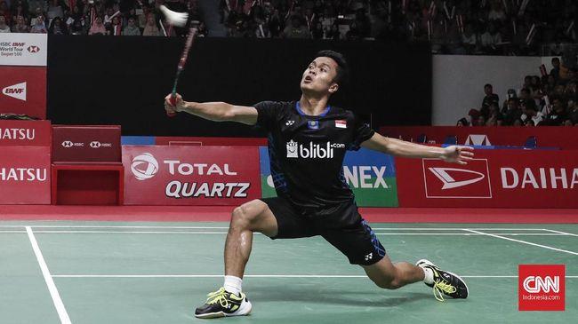 Kalahkan Chen Long, Anthony ke Semifinal Singapura Terbuka