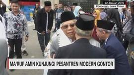 Ma'ruf Amin Kunjungi Pesantren Modern Gontor