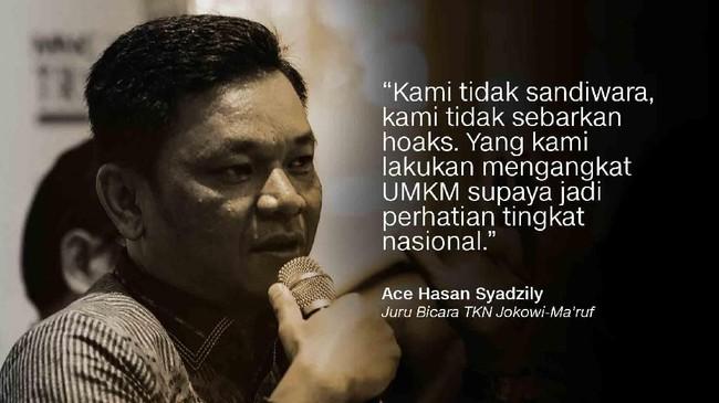 Juru Bicara TKN Jokowi-Ma'ruf, Ace Hasan Syadzily.