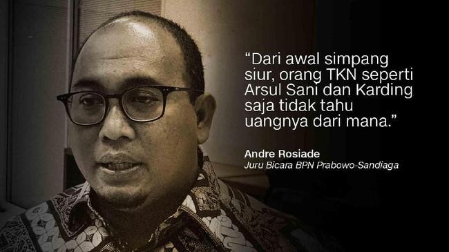 Juru Bicara BPN Prabowo-Sandiaga, Andre Rosiade.