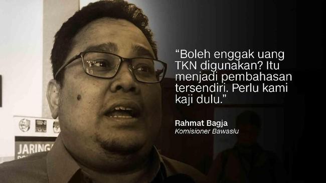 Komisioner Bawaslu, Rahmat Bagja.