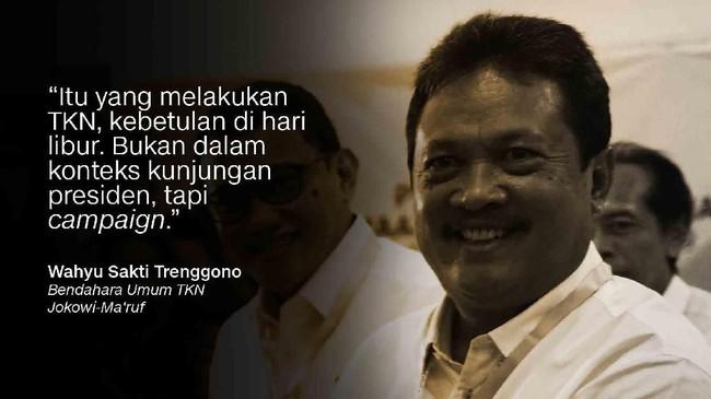 Bendahara Umum TKN Jokowi-Ma'ruf, Wahyu Sakti Trenggono.