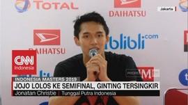 Jojo Lolos Semifinal, Ginting Tersingkir