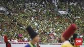 Peringatan Harlah ke-37 yang mengusung tema Khidmat Muslimat NU, Jaga Aswaja, Teguhkan Bangsa' bertujuan menguatkan akidah Muslimat NU agar tidak mudah terpancing isu perpecahan.(CNN Indonesia/ Hesti Rika)
