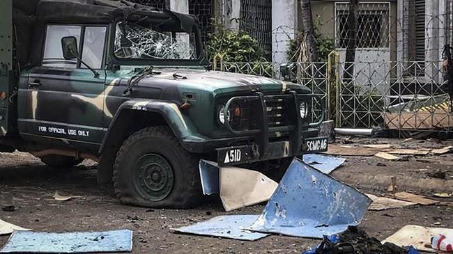 Pemerintah menduga serangan ini dilakukan oleh Abu Sayyaf, kelompok militan yang berbaiat kepada ISIS. (Armed Forces of the Philippines/Handout via Reuters)