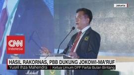Hasil Rakornas, PBB Dukung Jokowi-Ma'ruf