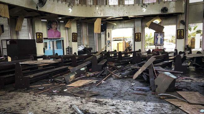 Pelaku Bom Gereja di Filipina Diduga Asal Indonesia
