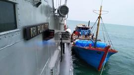 TNI AL Tangkap Kapal Ilegal di Tanjung Balai Asahan