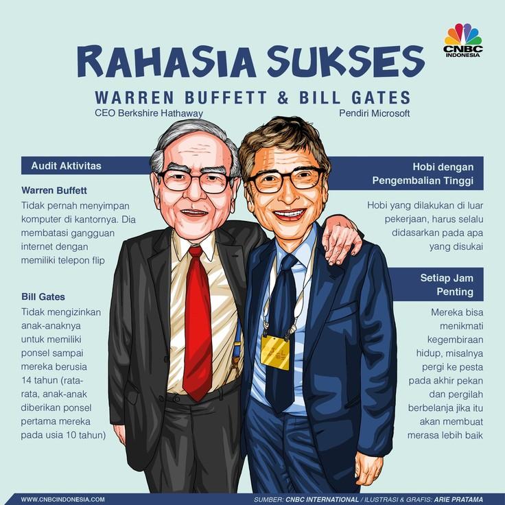 Yuk! Simak Rahasia Sukses Warren Buffett dan Bill Gates