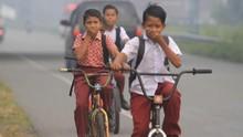 Kabut Asap Menebal, Jambi Perpanjang Libur Sekolah