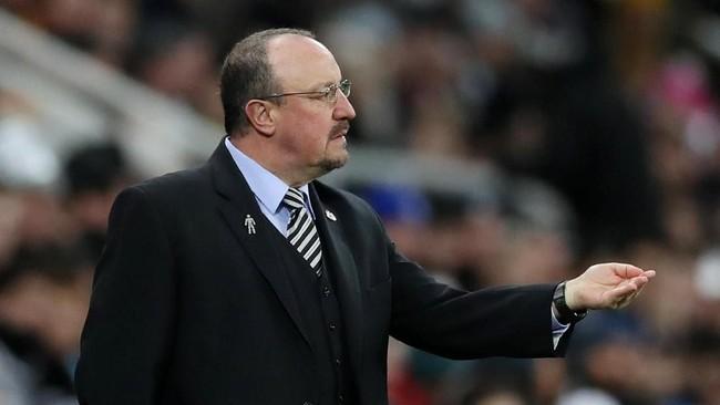 Rafa Benitez mendapat pujian karena kekalahan Manchester City memberi keuntungan bagi Liverpool. (Reuters/Lee Smith)