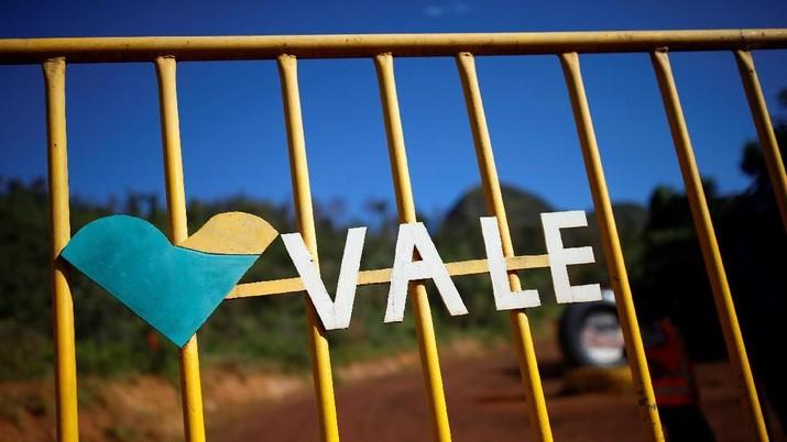 A logo of the Brazilian mining company Vale SA is seen in Brumadinho, Brazil January 29, 2019.  REUTERS/Adriano Machado