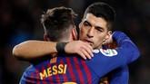 Barcelona lolos ke babak semifinal dengan keunggulan agregat 6-3. (REUTERS/Albert Gea)