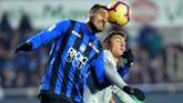 Atalanta bermain dengan disiplin tinggi sehingga Juventus kesulitan menembus pertahanan mereka. (REUTERS/Massimo Pinca)