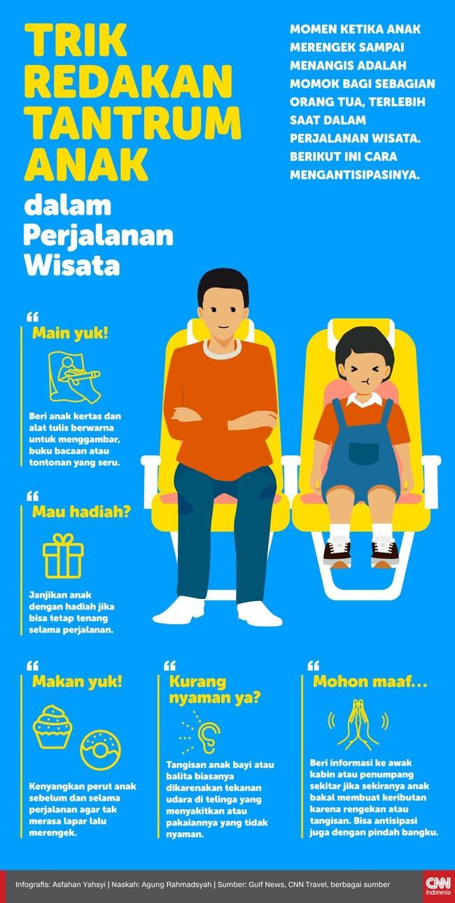 INFOGRAFIS: Trik Redakan Tantrum Anak dalam Perjalanan Wisata