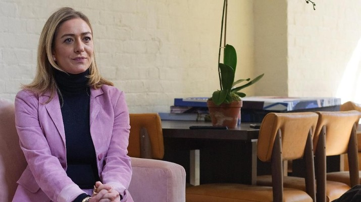 Bumble founder and CEO Whitney Wolfe Herd is interviewed in the Manhattan borough of New York City, U.S., January 31, 2019.  REUTERS/Caitlin Ochs