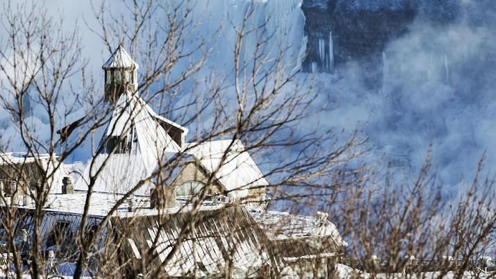 Fenomena Cuaca Ekstrem, Buat Air Terjun Niagara Pun Membeku
