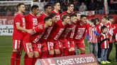 Girona menjamu Real Madrid pada leg kedua perempat final di Stadion Montilivi dengan defisit ketinggalan 2-4 dari Los Blancos. (REUTERS/Albert Gea)