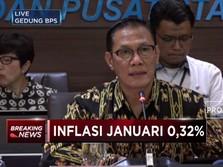 Inflasi Januari 0,32% MOM