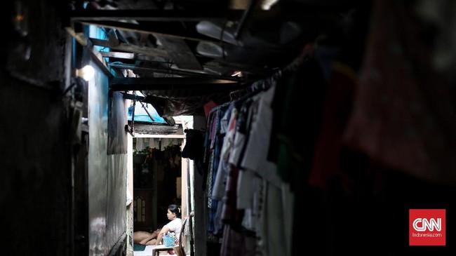 Kampung Ampiun, Kelurahan Pegangsaan, Kecamatan Menteng, Jakarta Pusat merupakan pemukiman padat penduduk yang terletak di jantung ibu kota. Kamis (31/1). (CNNIndonesia/Andry Novelino).
