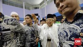 Ma'ruf Amin Sindir Beda Penyambutan Pesantren kepada Prabowo