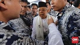 Ma'ruf soal Debat Kedua: Prabowo Baik, Jokowi Lebih Baik