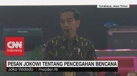 Pesan Jokowi Tentang Pencegahan Bencana