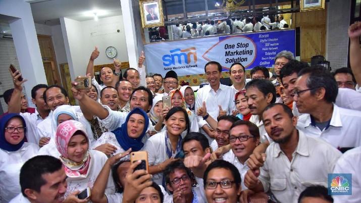 Presiden Joko Widodo (Jokowi) mengadakan kunjungan kerja ke Semarang, Jawa Tengah, Sabtu (2/2/2019).