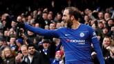 Gonzalo Higuain berpeluang kembali ke Juventus jika Chelsea tidak berminat memperpanjang masa peminjaman penyerang Argentina tersebut. (Action Images via Reuters/John Sibley)