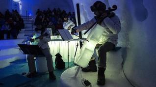 FOTO: Merdu Musik dari Kristal Es