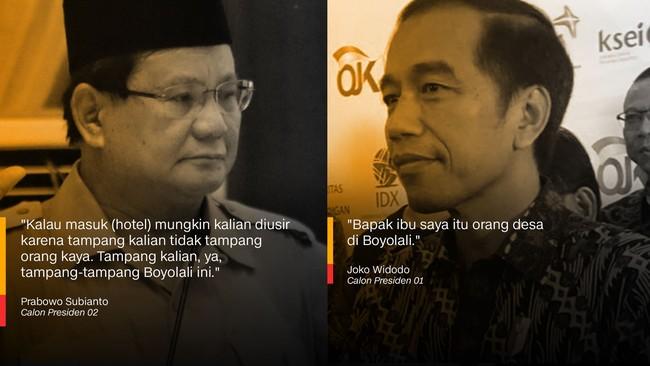 Prabowo Subianto dan Joko Widodo.