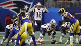 Super Bowl 2019 antara New England Patriots v Los Angeles Rams tercatat sebagai Super Bowl dengan catatan skor terendah sepanjang sejarah 13-3. (REUTERS/Kevin Lamarque)