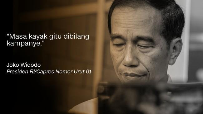 Presiden RI/Capres Nomor Urut 01, Joko Widodo.