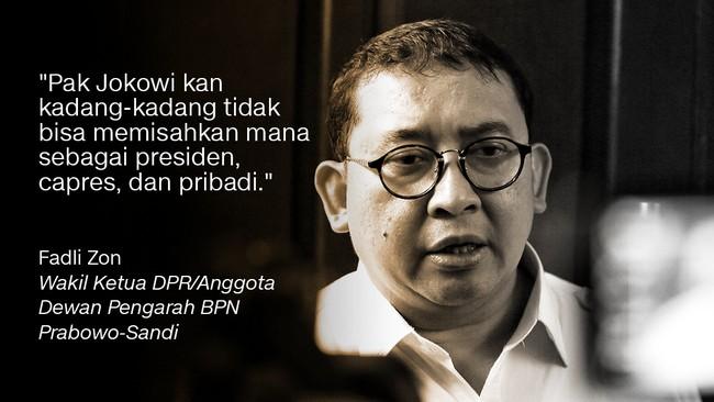 Wakil Ketua DPR/Anggota Dewan Pengarah BPN Prabowo-Sandi, Fadli Zon.