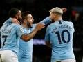 FOTO: Hattrick Aguero Bawa Manchester City Bungkam Arsenal
