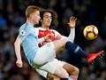 Aguero Dua Gol, Man City Unggul Atas Arsenal di Babak I