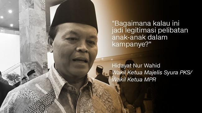 Wakil Ketua Majelis Syura PKS/ Wakil Ketua MPR, Hidayat Nur Wahid.