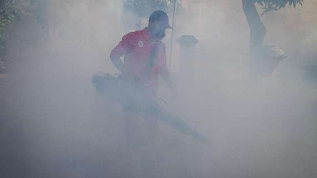 Pemda Sragen, Jawa Tengah, menetapkan status kejadian luar biasa demam berdarah dengue (DBD) setelah tercatat 188 kasus warga terjangkit DBD, dua diantaranya meninggal dunia. ANTARA FOTO/Mohammad Ayudha