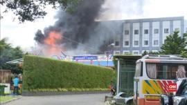 VIDEO: Kebakaran Wihara di Bandung Akibat Lilin