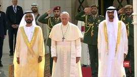 VIDEO: Paus Fransiskus Kunjungi UEA, Pertama dalam Sejarah