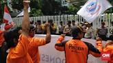Serikat Pekerja PT Pos Indonesia menilai sistem karir perusahaan tidak objektif. Salah satunya perihal Pemutusan Hubungan Kerja (PHK) yang dianggap tidak dilakukan secara adil dan mengikuti prosedur. (CNN Indonesia/Adhi Wicaksono).