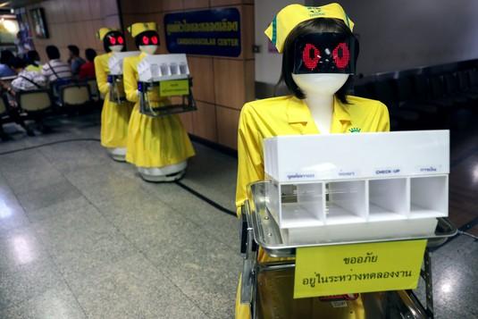 Ketika Robot Jadi Perawat Rumah Sakit di Thailand