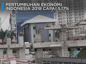 Pas-pasan, Pertumbuhan Ekonomi RI 2018 Cuma 5,17%
