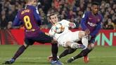 Gareth Bale yang masuk pada menit ke-64 menggantikan Vinicius tidak dapat membawa Madrid menambah gol dalam laga tandang.(REUTERS/Albert Gea)