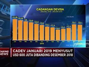 Cadangan Devisa Januari 2019 Turun Jadi USD 120,1 M